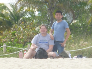 John & Miguel at the beach